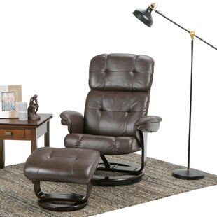 Deserie Manual Swivel Recliner With Ottoman