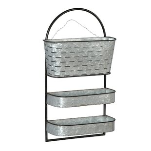 Pottsville Metal Three Tier Organizer Wall Shelf