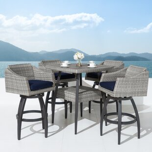 Wade Logan Castelli 5 Piece Bar Height Dining Set