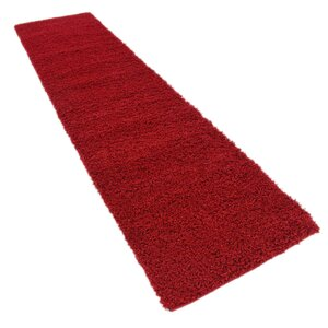Madison Basic Red Area Rug