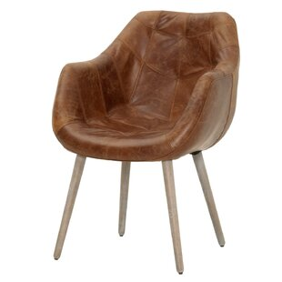 Fonteyne Genuine Leather Upholstered Dining Chair