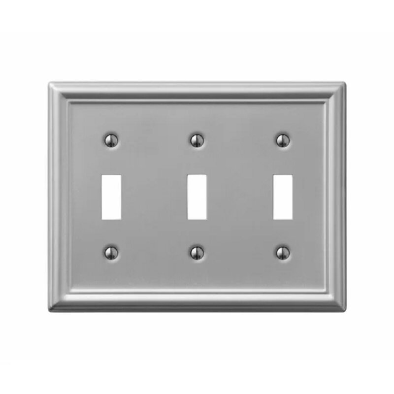 Amerelle Chelsea 3 Gang Toggle Light Switch Wall Plate Wayfair