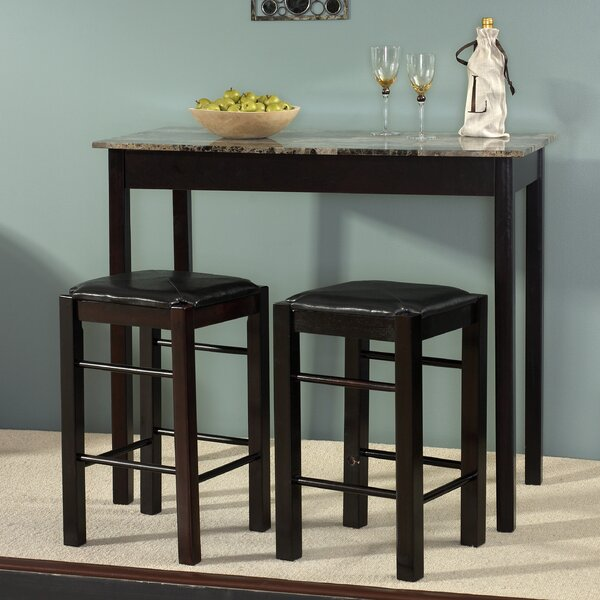 Charmant Prosser 3 Piece Counter Height Dining Set