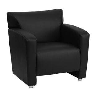 Gaige Leather Lounge Chair by Ebern Designs