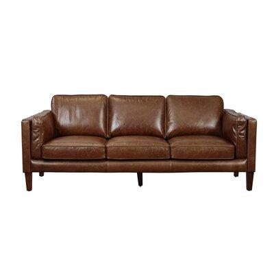 Tinney Leather Sofa & Reviews | AllModern