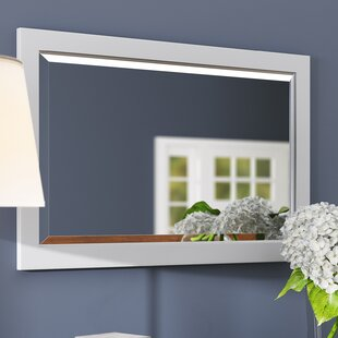 Andover Mills Rectangle Beveled Edged Wall M..
