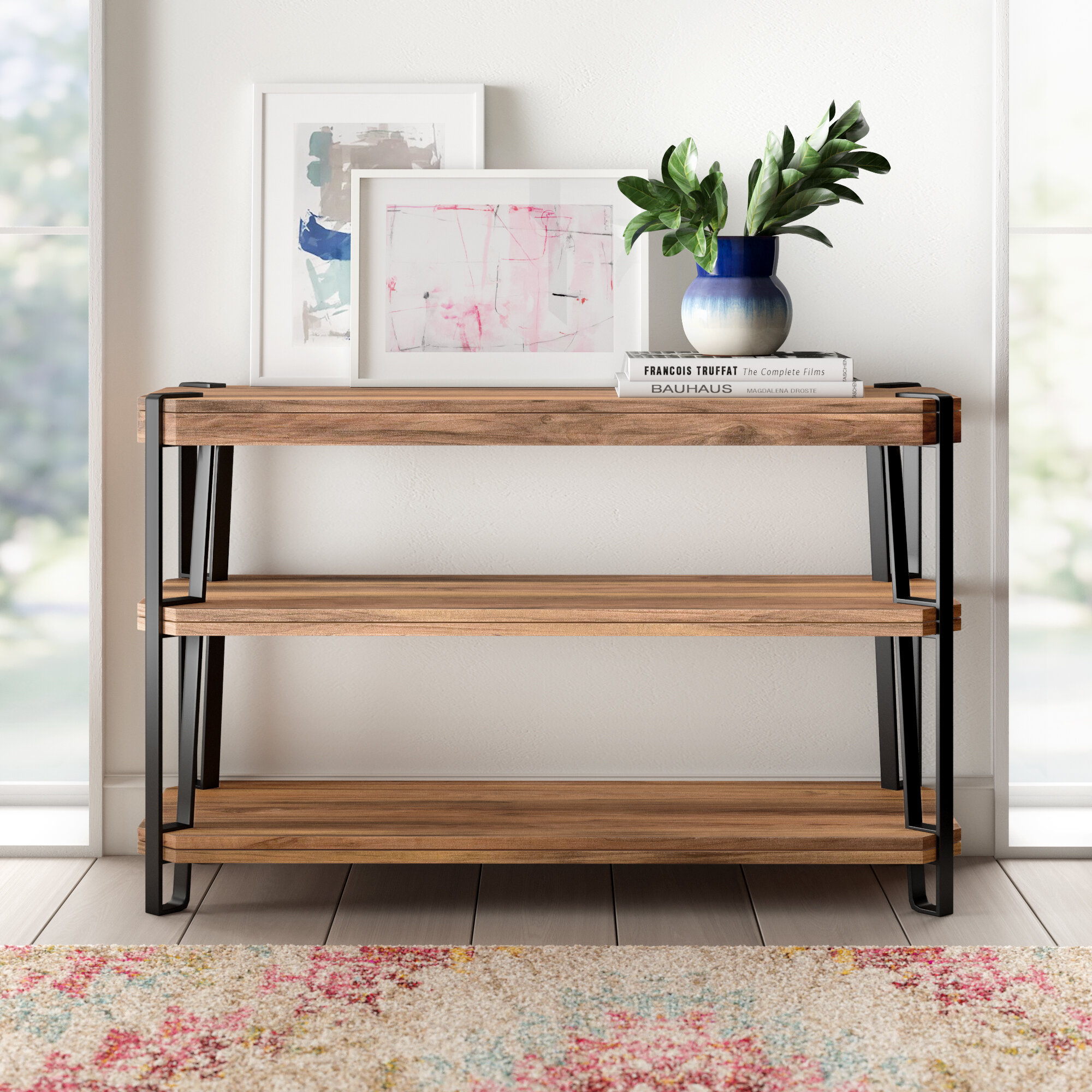 Union Rustic Tindal Solid Wood Console Table Wayfair