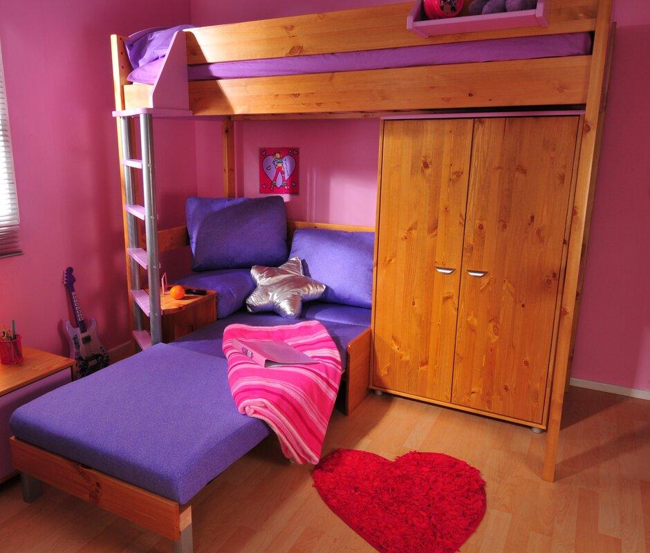 European Single L Shaped Bunk Bed