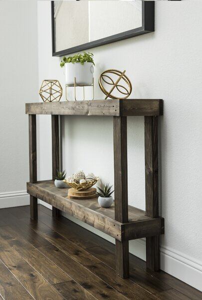 Union Rustic Dunlap Console Table (Dark Walnut)