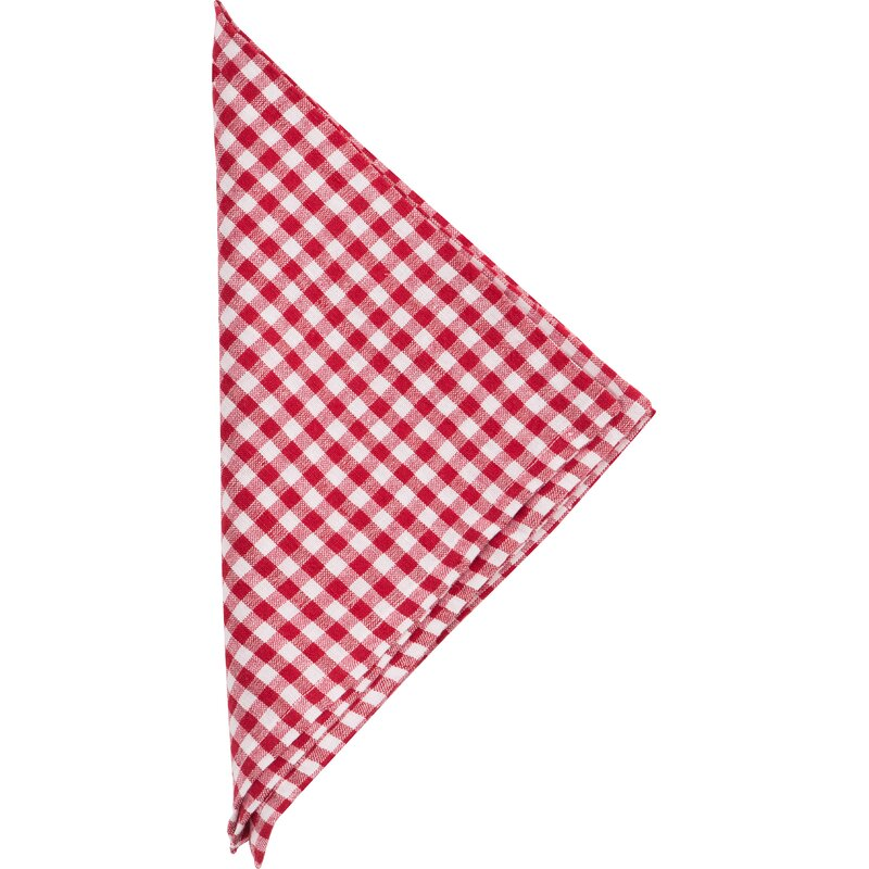 Gingham Linen Napkin. Holiday decor inspiration with plaid, checks, and tartans! Come be inspired by this classic pattern for Christmas decorating. #plaid #christmasdecor #holidayinspiration #checks #decorating #inspiration