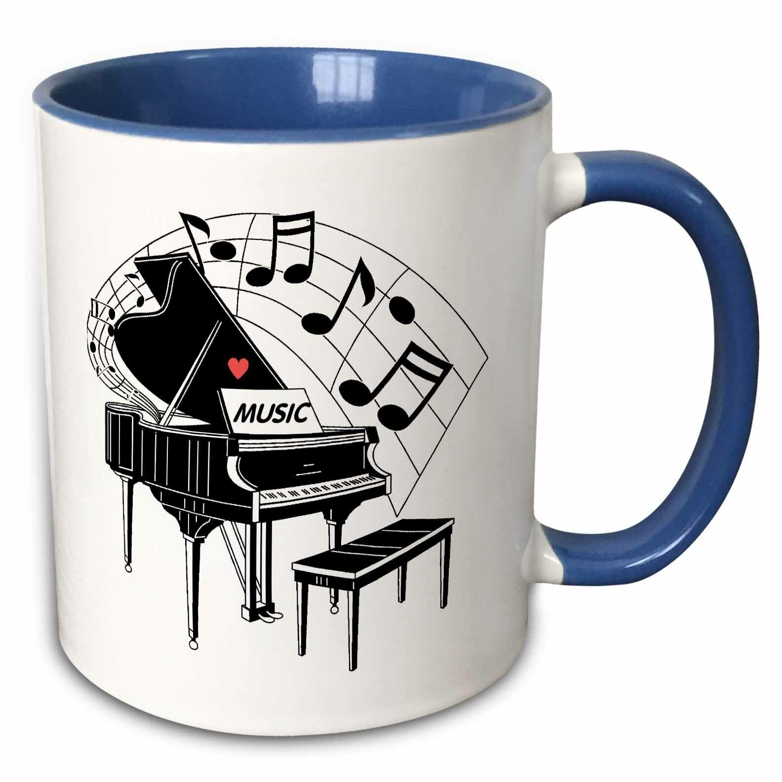 Winston Porter Fults Piano Coffee Mug Wayfair