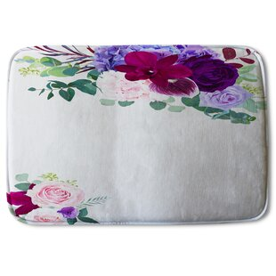 Nature Floral Purple Bath Rugs Mats You Ll Love In 2021 Wayfair
