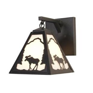 Order Moose Timber Ridge Hanging 1-Light Outdoor Wall Lantern By Steel Partners