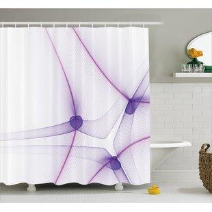 camile art unique modern shower curtain - Unique Shower Curtains
