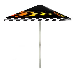 Racing Flames 6' Square Market Umbrella