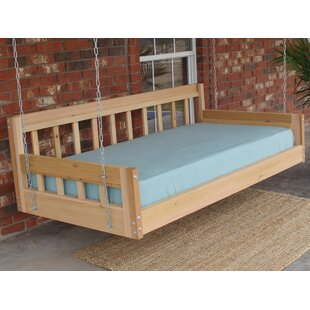 Tharp American Style Hanging Daybed Porch Swing by Loon Peak Great price
