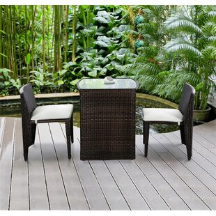 Shopping for Honor 3 Piece Rattan Conversation Set with Cushions ByWrought Studio