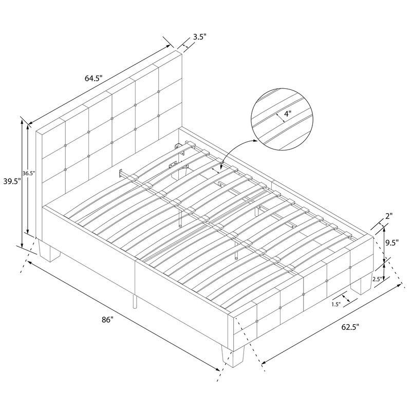 Andover Mills Amherst Upholstered Platform Bed Reviews