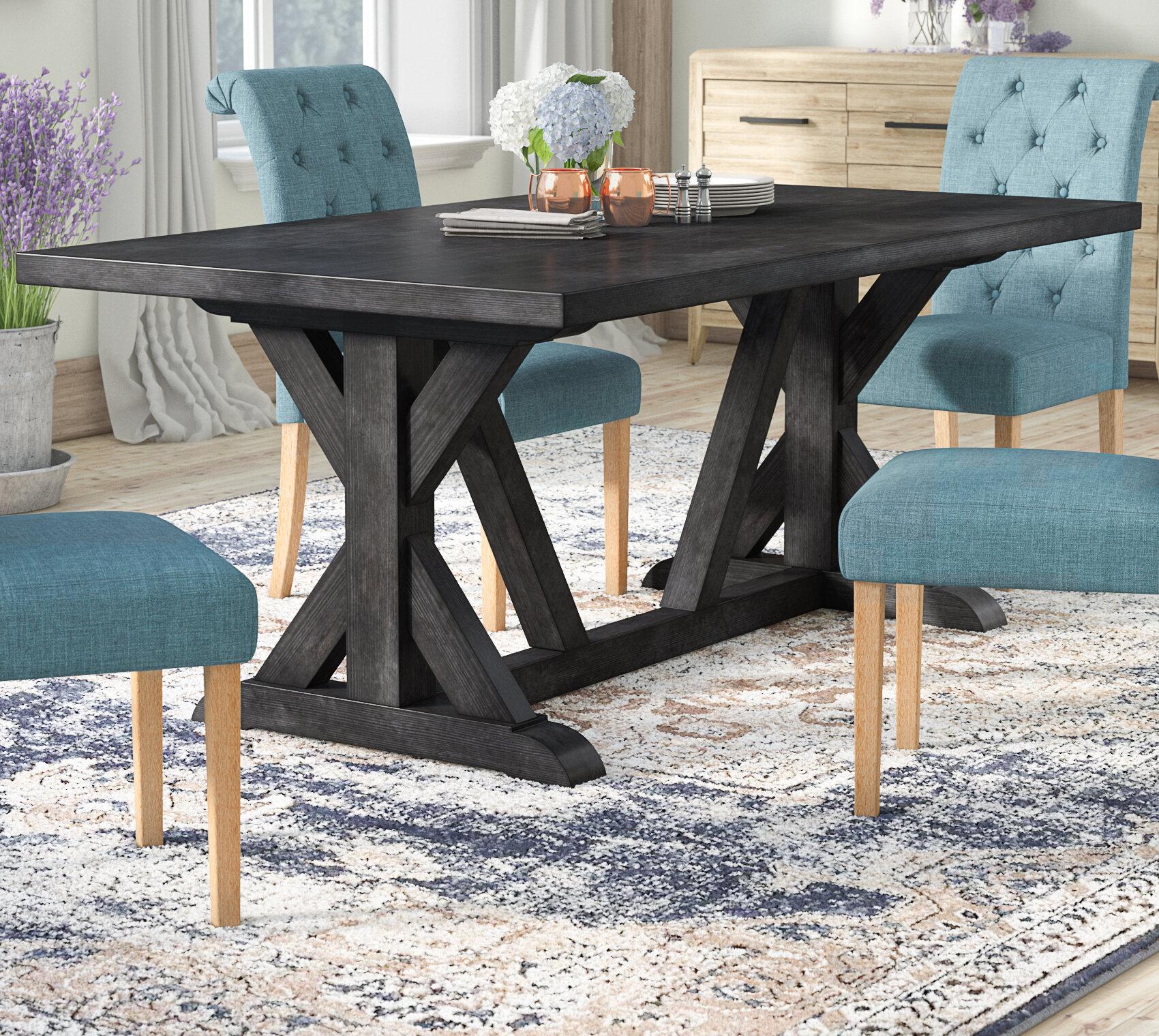 Laurel Foundry Modern Farmhouse Sydney Solid Wood Dining Table Reviews Wayfair
