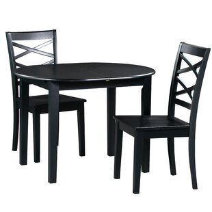 Spillers 3 Piece Extendable Solid Wood Dining Set Winston Porter
