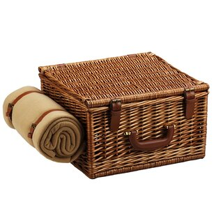 Cheshire Basket for Two with Blanket in Gazebo by Picnic at Ascot