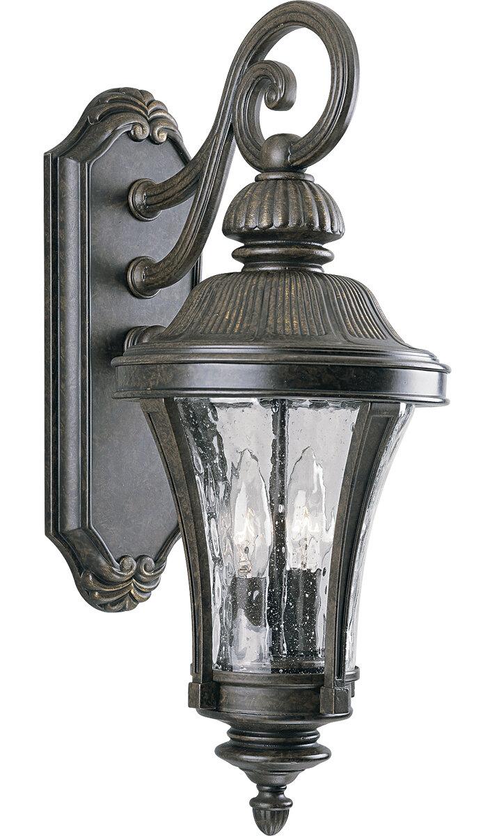 Alcott Hill Triplehorn 2 Light Outdoor Wall Lantern Wayfair
