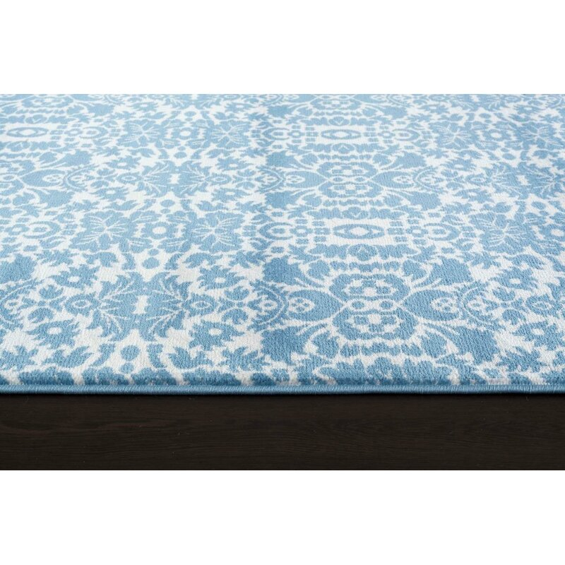 Lark Manor Paden Abstract Dark Blue Indoor Outdoor Area Rug Wayfair