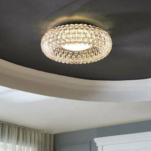 House of Hampton Mitchel Ceiling Fixture 2-Light Flush Mount