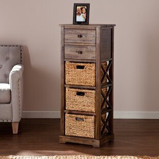 Elegant Stimson 2 Drawer Storage Chest 3 Basket Storage Tower