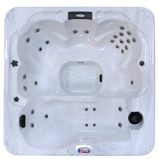 6-Person 30-Jet Hot Tub With Backlit LED Waterfall By American Spas