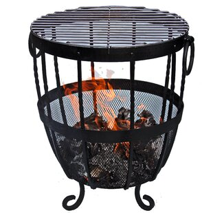 Iron Charcoal/Wood Burning Fire Pit By Gardeco