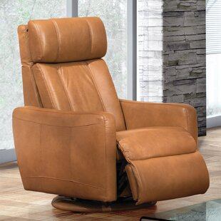 Fornirama Thornton Leather Power Swivel Rocker Recliner