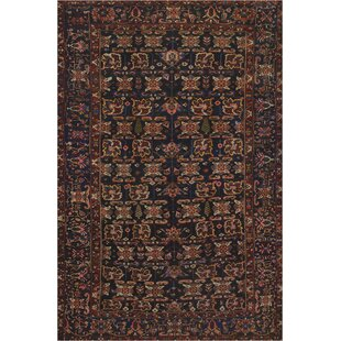 One-of-a-Kind Antique Bakhtiari Handwoven Wool Brown Indoor Area Rug By Mansour