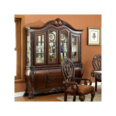 """Astoria Grand Chenault 70.5"""" Wide 4 Drawer Dining Hutch  Color: Cherry"""
