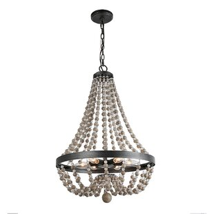 Bessemer Wood 6-Light Empire Chandelier by Bungalow Rose