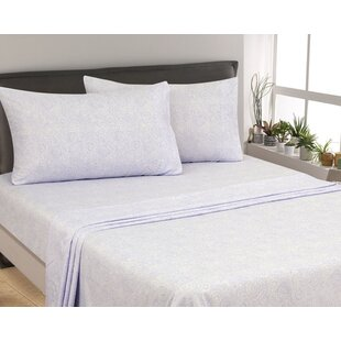 Oreana Paisley 300 Thread Count 3 Piece Satin Sheet Set