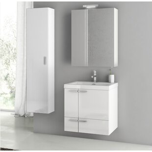 New Space 24 Wall-Mounted Single Bathroom Vanity Set by ACF Bathroom Vanities