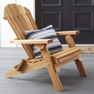 Abordale Solid Wood Folding Adirondack Chair