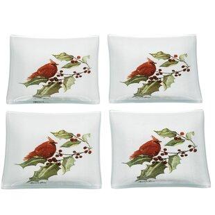 Cynthia Dunn ™ Maximilian Cardinal Trinket Decorative Plate (Set of 8)