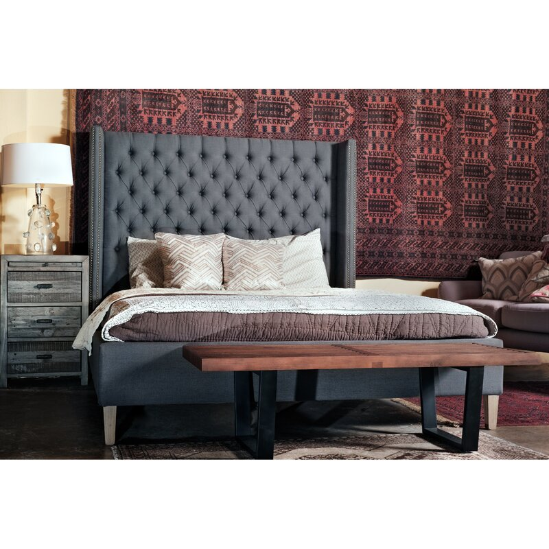 upholstered tufted fantastic king with sleigh bed size white
