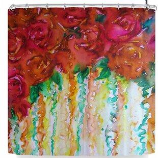 East Urban Home Ebi Emporium Petals On Parade Shower Curtain