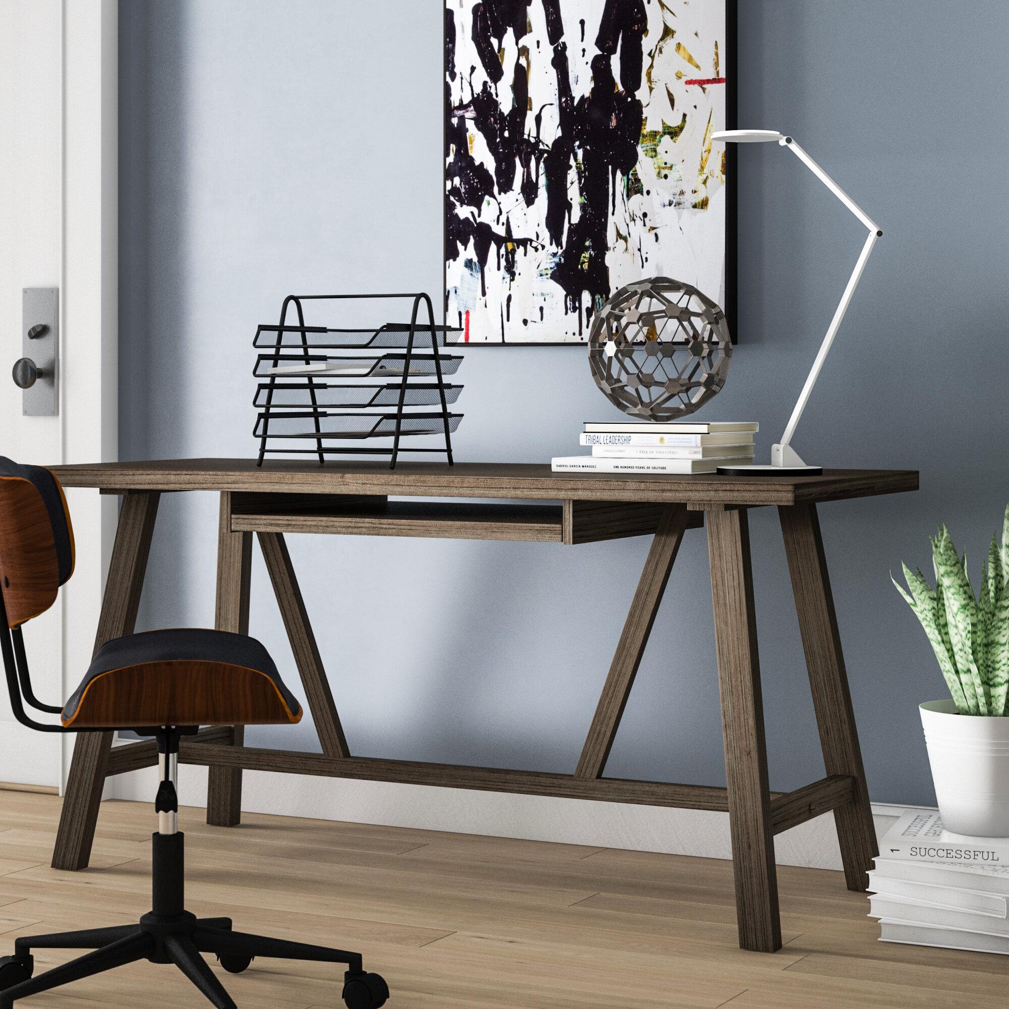 Gracie Oaks Vandeusen Solid Wood Desk Reviews Wayfair Ca