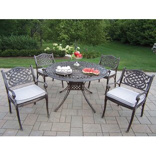 Oakland Living Capitol Mississippi 5 Piece Dining Set with Cushions