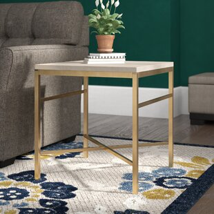 Find the perfect Stults Faux Stone End Table in Travertine By Zipcode Design