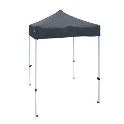 5 Ft. W x 5 Ft. D Steel Pop-Up Canopy ALEKO Color: Black