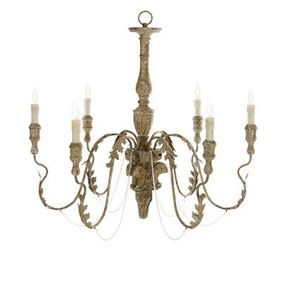 Charlemagne 6-Light Candle-Style Chandelier #french #chandelier #frenchcountry #lighting