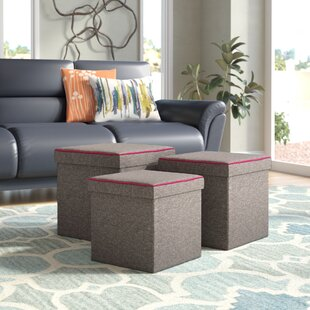 Groovy Zipcode Design Marco 3 Piece Storage Ottoman Set Reviews Gmtry Best Dining Table And Chair Ideas Images Gmtryco