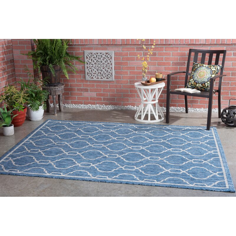 Andover Mills Ford Transitional Indigo Indoor/Outdoor Area Rug, Size: Rectangle 67 x 96
