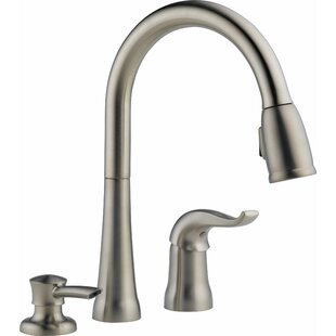 Delta Kate Pull Down Single Handle Kitchen Faucet with Diamond Seal Technology and MagnaTite® Docking