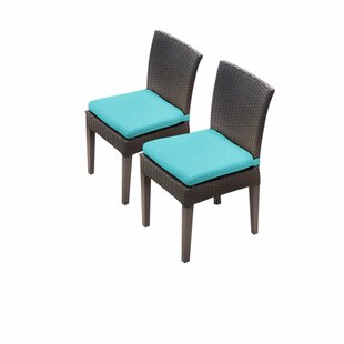 Barbados Patio Dining Chair with Cushion (Set of 2)